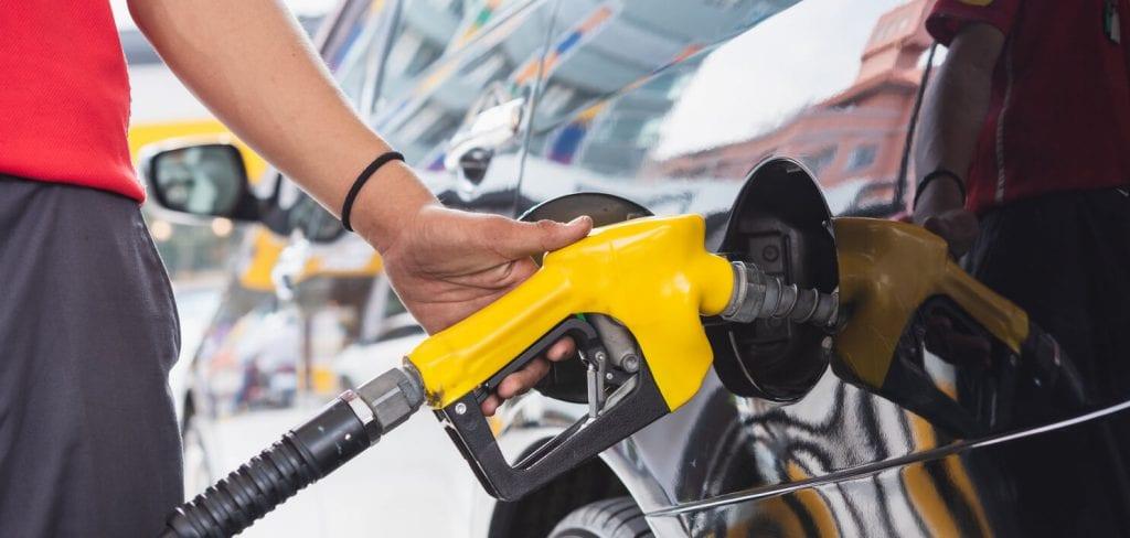 yellow gasoline handle refueling car